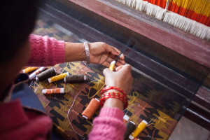 Traditional Dhaka Fabric from Nepal | Where in the World Apparel