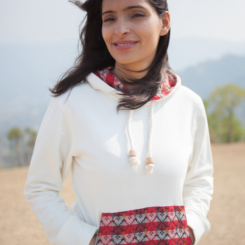 Sherpa Sweatshirt | Traditional handloom fabric | Where in the World Apparel